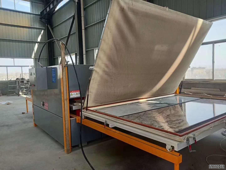 山东万恒 铝单板多张木纹转印机操作视频 双工